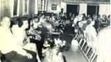 """חברי מחתרת """"קבוצת ווסטרוויל"""" בבית הנשיא זלמן שז""""ר 4/8/1964"""